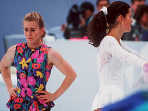 The Tonya Harding and Nancy Kerrigan rivalry makes headlines in the '90s.