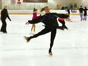 When times are tough, Tonya Harding finds refuge on the skating rink.