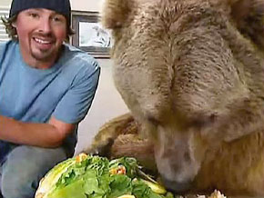 Casey Anderson explains his emotional connection with Brutus, a grizzly bear.