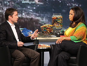 Fabien Cousteau and Oprah
