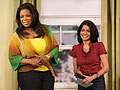 Simran Sethi and Oprah