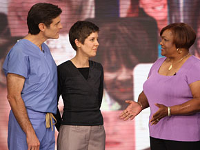 Sandra says Dr. Oz helped save her life.
