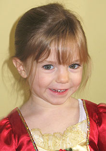 Madeleine McCann, age 3