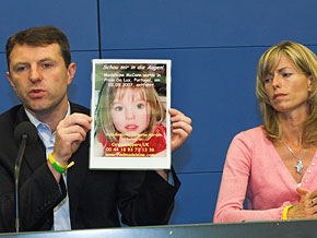 The McCanns were named as suspects in their daughter's disappearance.