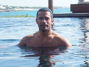 Mark Consuelos in Turks and Caicos