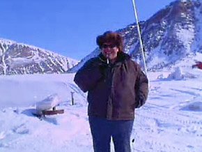 Janice says it took Grise Fiord a week to get its Skype connection working properly.