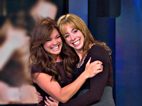 Valerie Bertinelli surprises her former co-star Mackenzie Phillips.