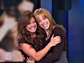 Valerie Bertinelli surprises her former co-star Mackenzie Phillips.