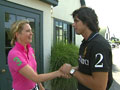 Nacho Figueras teaches Ali Wentworth how to play polo.