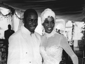 Whitney Houston and Bobby Brown's wedding