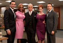 Gayle King on the set of Mad Men