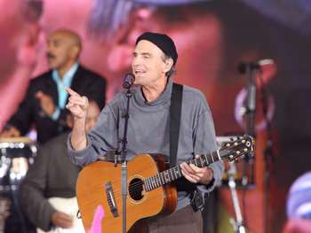 James Taylor sings How Sweet It Is.