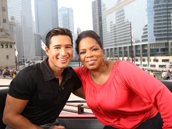 Oprah and Mario Lopez
