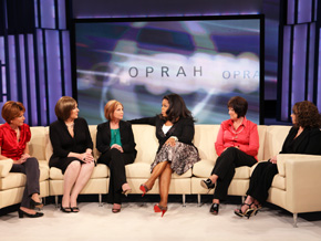 Megan, Susan, Diane, Tricia and Sofia with Oprah.