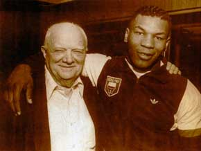 Mike Tyson and his trainer, Cus D'Amato