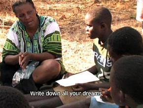 Tererai at home in Zimbabwe
