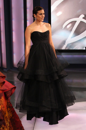 Christian Siriano's black ball gown
