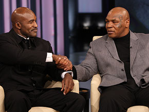 Mike Tyson and Evander Holyfield