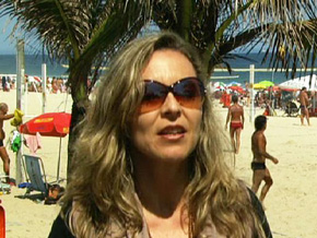 Aline and the beaches of Brazil