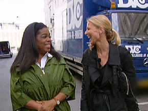 Oprah tours Copenhagen, Denmark, with Nanna.