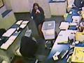 Surveillance tape of a robbery