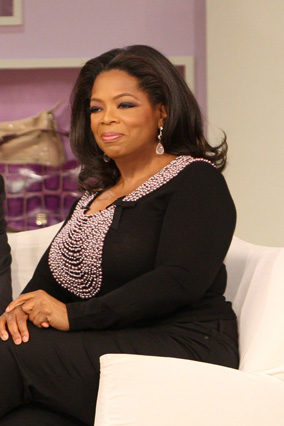 Oprah launches her shoe and handbag intervention.