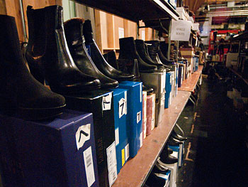 Boot selection at Oprah's Accessory Boutique