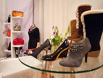 Winter boot selection at Oprah's Accessory Boutique