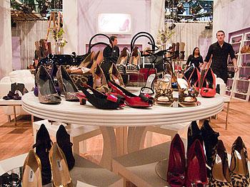Designer heels at Oprah's Accessory Boutique
