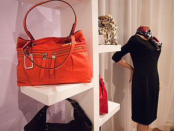 Orange handbag at Oprah's Accessory Boutique