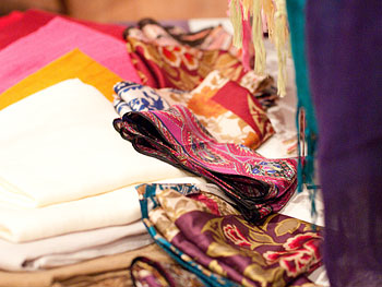 Silk scarves at Oprah's Accessory Boutique