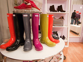 Hunter boots at Oprah's Accessory Boutique