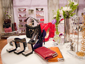 Clutches and jewelry at Oprah's Accessory Boutique