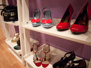 Colorful heels at Oprah's Accessory Boutique