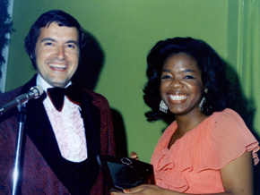 Oprah and Chris Clark in the '70s