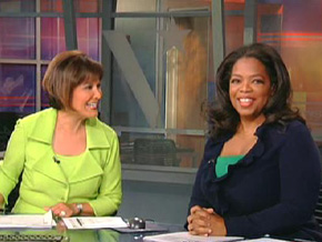 Oprah on the Dallas evening news