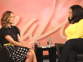 Hilary Swank and Oprah