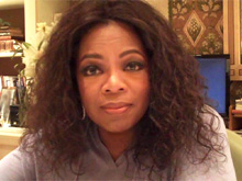 Oprah in her office