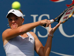 An Associated Press photo of Melanie Oudin at the 2009 U.S. Open
