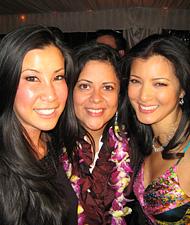 Lisa Ling with Maya and Kelly