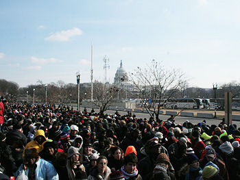 Crowd and Capitol building