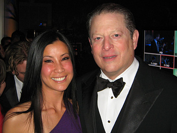 Lisa Ling and Al Gore at the Green Ball.