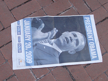 President Obama newspaper clipping