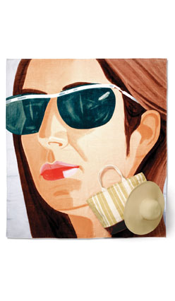 Alex Katz Works for Whatever beach towel