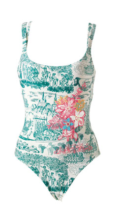 Rosa Cha one-piece toile bathing suit