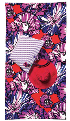 Etro floral beach towel