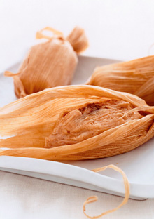 Smoked Turkey-Sweet Potato Tamales
