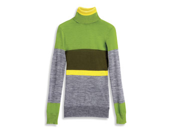 Great Buy: color-block turtleneck