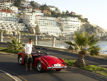 Adam Glassman and an MG-A