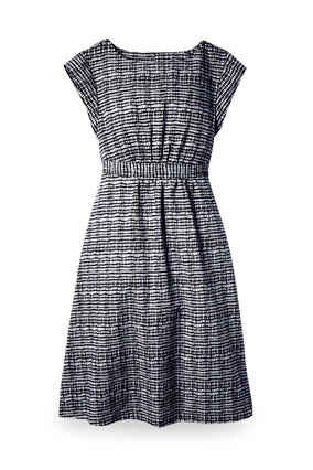Sears black and white dress